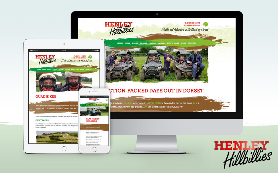 Henley Hillbillies Website Design